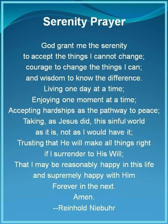 Serenity Prayer … long version 6 14 15