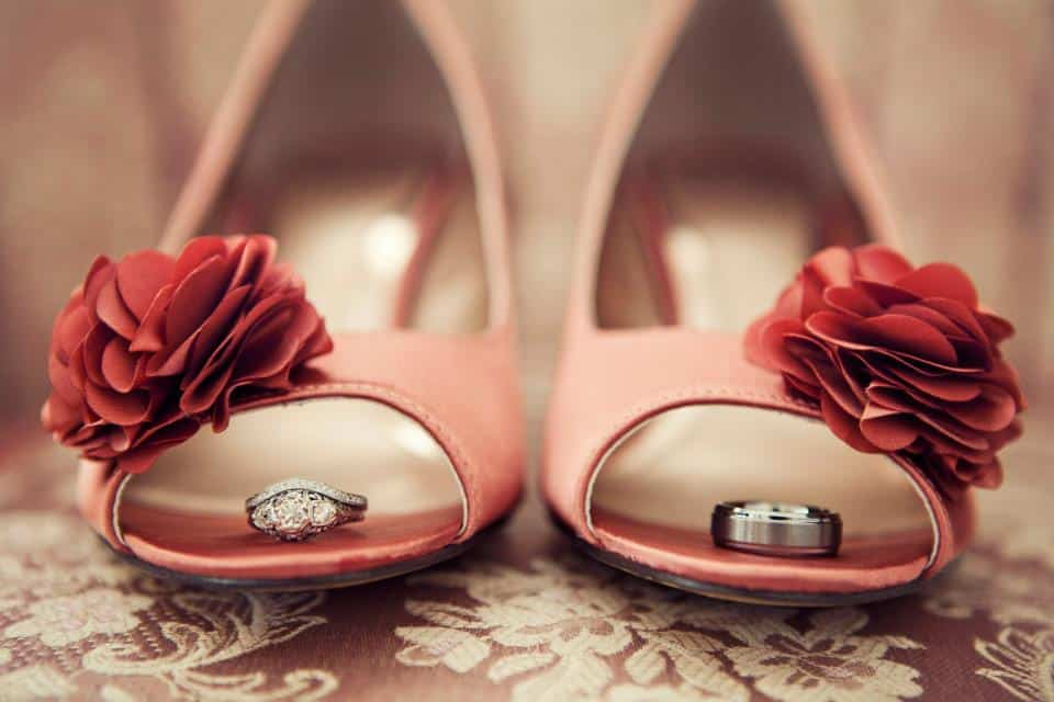 Dana Ann Photography-wedding rings in shoes