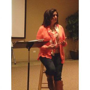 Tweeny speaking at Elmhurst Reformed