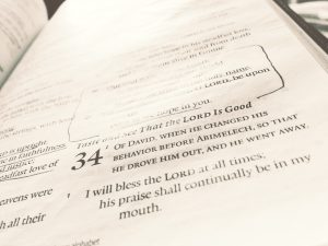 photo of Psalm 34